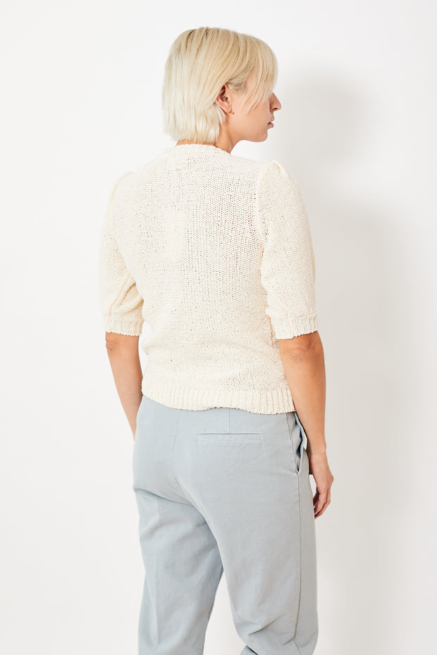 Lilla P Elbow Sleeve Crewneck Sweater
