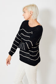 Lilla P Striped Boatneck Sweater