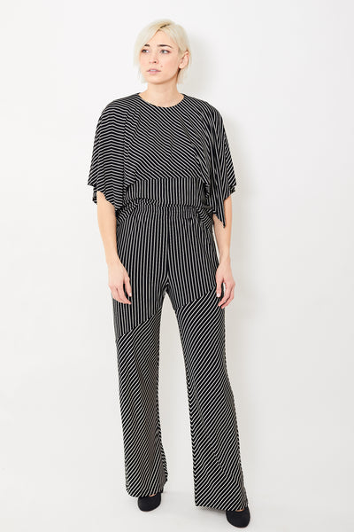 MM6 Maison Margiela Striped Pull On Trousers