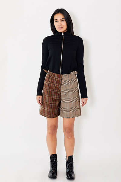 MM6 Checked Shorts Mix Brown Checked