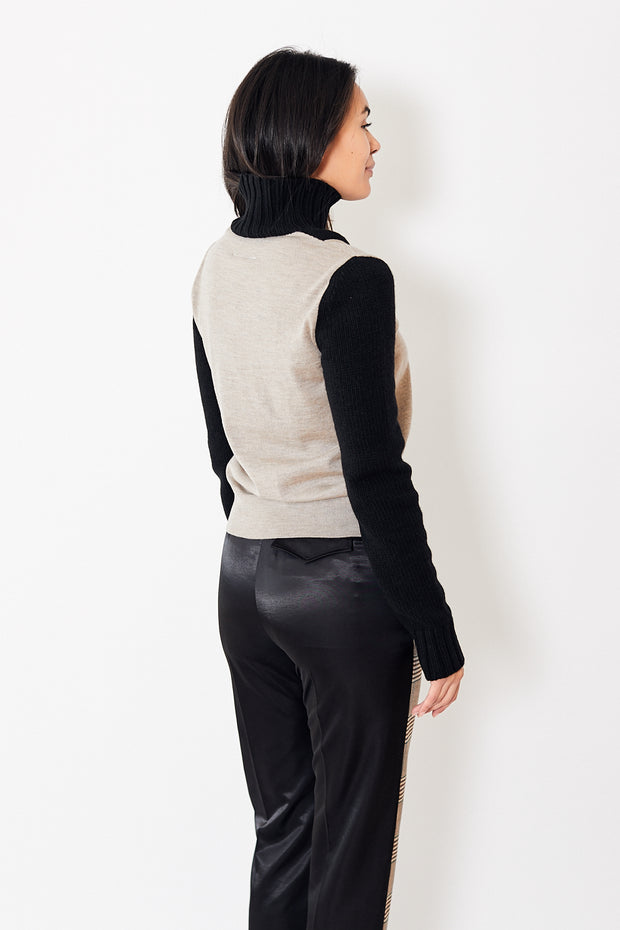 MM6 Color Block Turtleneck