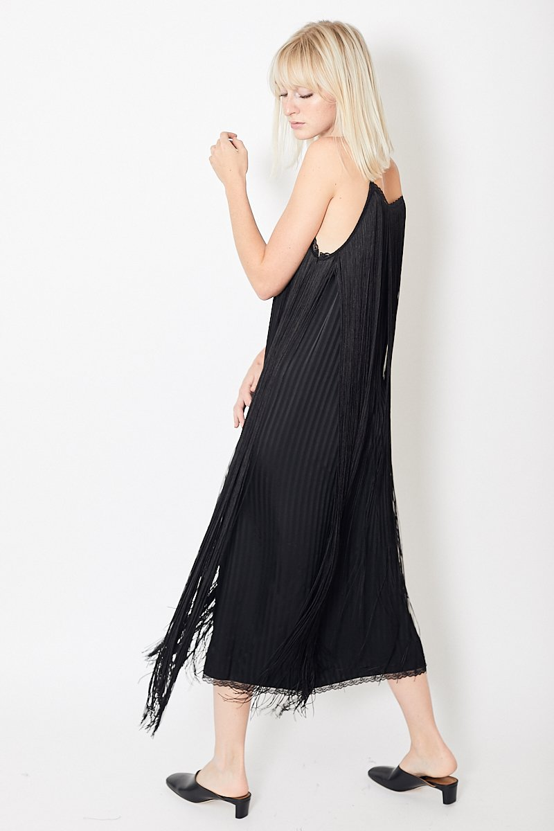 MM6 Fringed Slip Dress