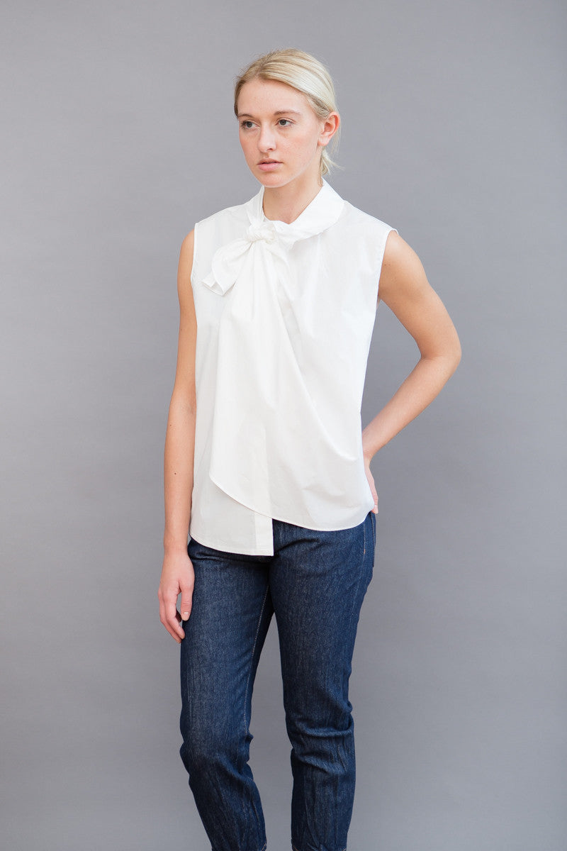 MM6 Maison Margiela Bow Detail Sleeveless Shirt
