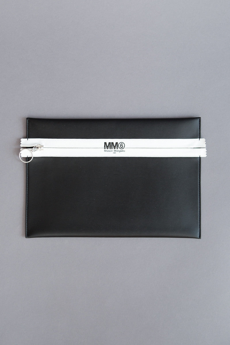 MM6 Maison Margiela Flat Zip Clutch