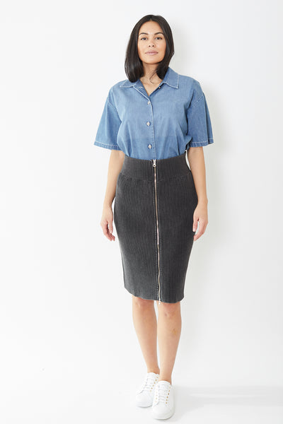 MM6 Maison Margiela Heavy Knit Skirt with Zipper