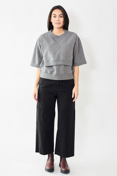 MM6 Maison Margiela High Rise Wide Leg Jean