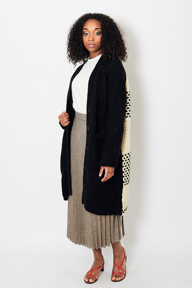 MM6 Maison Margiela Long Chunky Knit Cardigan