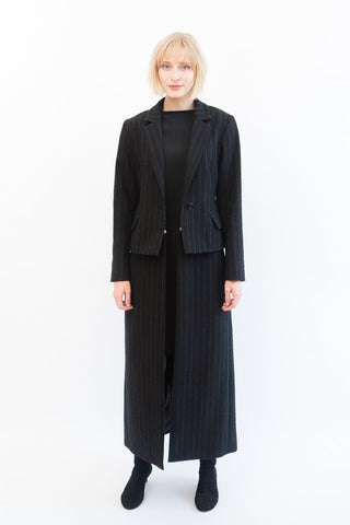 MM6 Maison Margiela Pinstripe Felt Coat