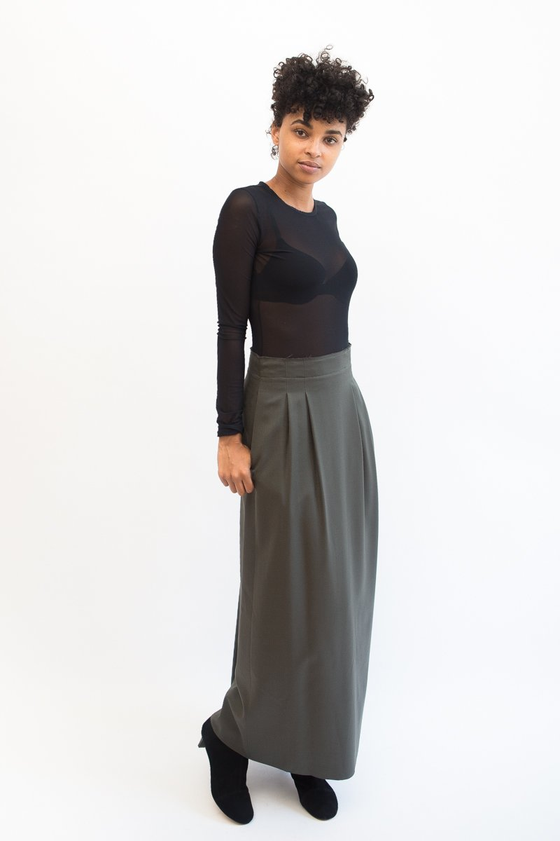 MM6 Maison Margiela Pleated Maxi Skirt