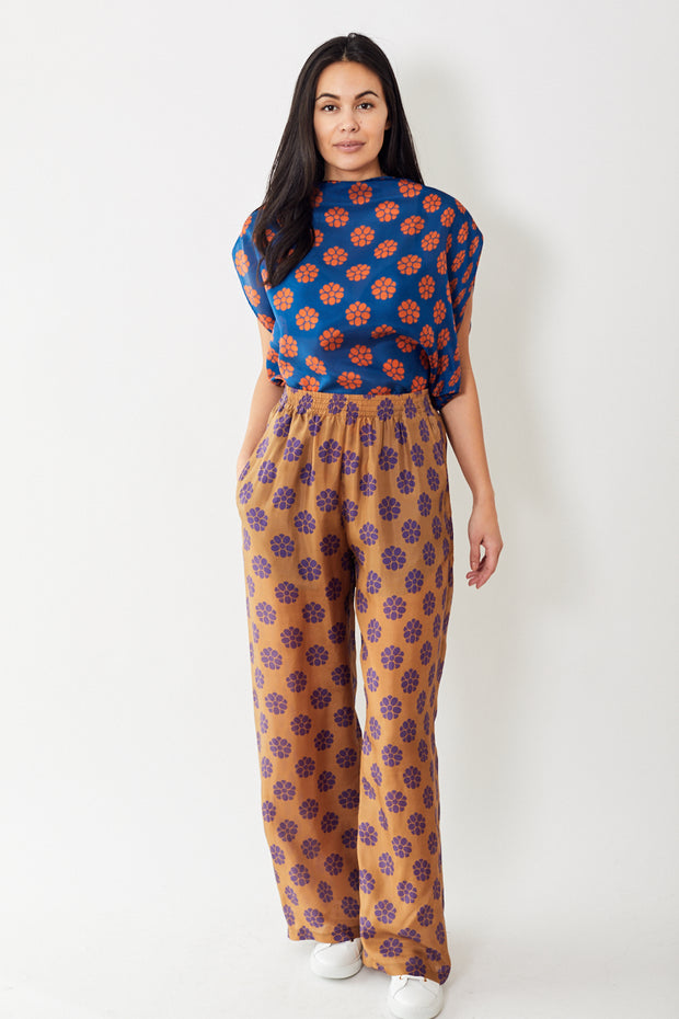 MM6 Maison Margiela Print Wide Leg Pant
