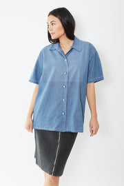 MM6 Maison Margiela Short Sleeve Denim Shirt