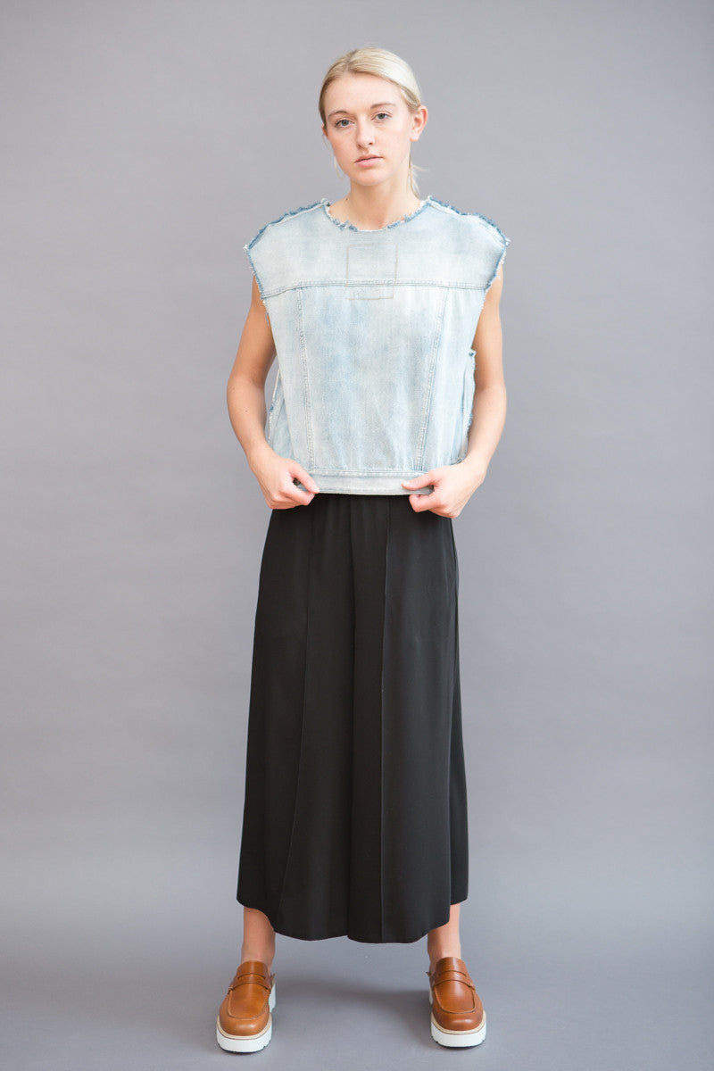 MM6 Maison Margiela Sleeveless Denim Top