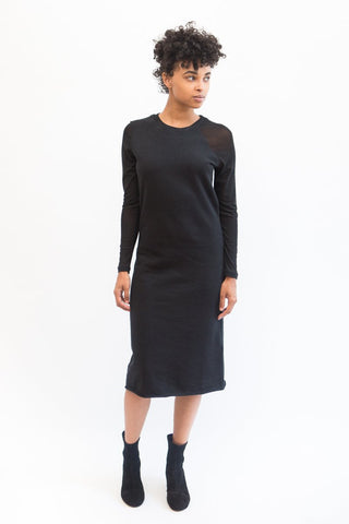 MM6 Maison Margiela Sweatshirt Dress with Sheer Sleeves