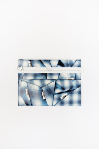 MM6 Maison Margiela Tartan Print Clutch