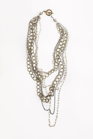 Mya Lambrecht Antique Mulit-Strand Necklace