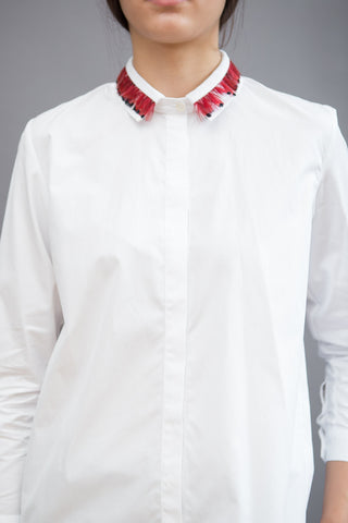 Maison Père Shirt With Feather Collar - grethen house