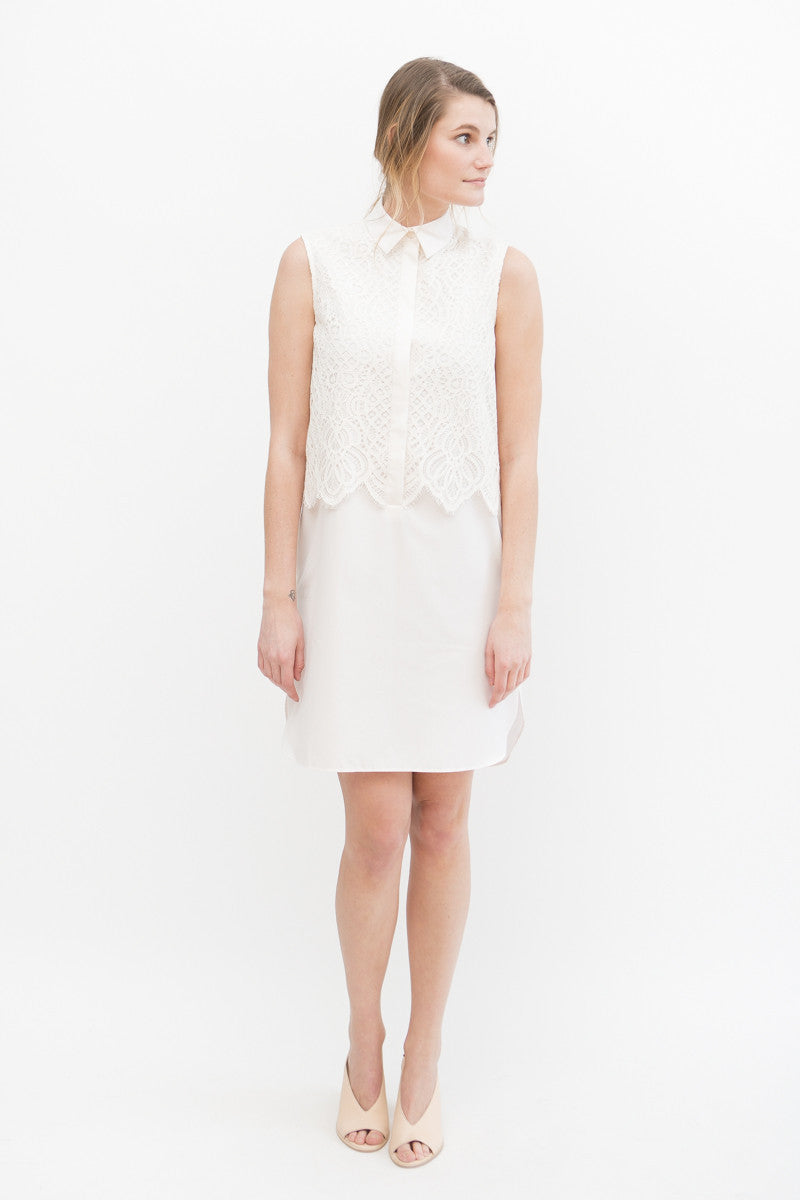 Maison Père Sleeveless Lace Dress
