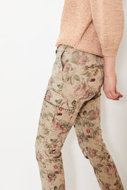 Mason's Chile Cargo Pant with Studs Khaki/Cherries