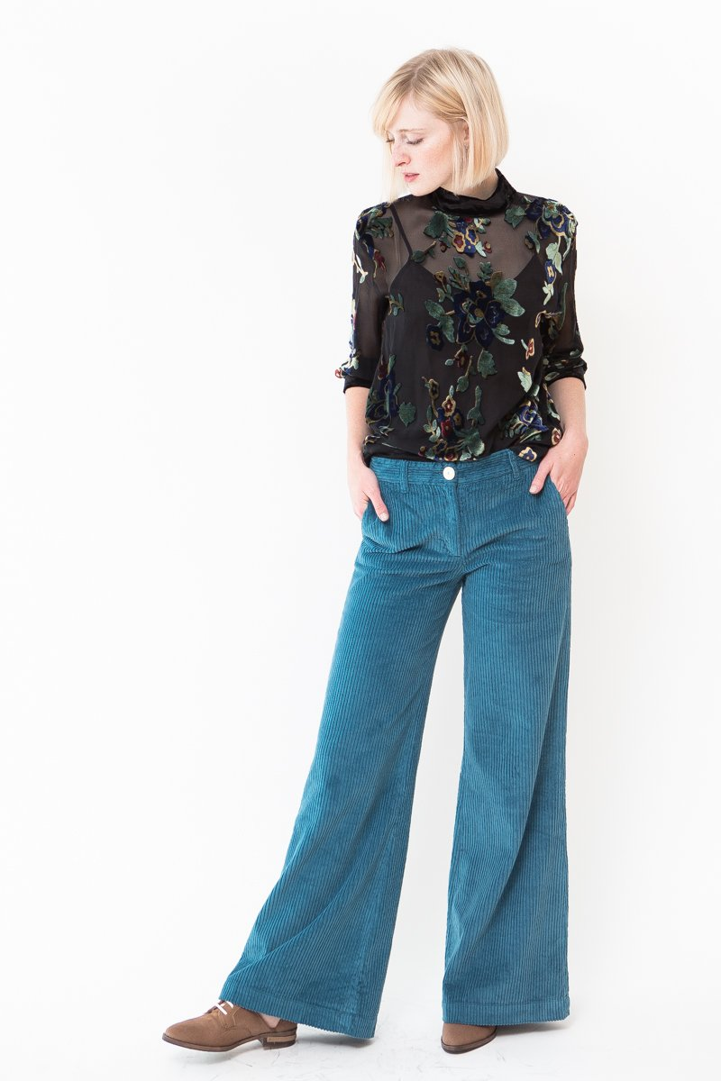 Masscob Brady High Rise Wide Leg Corduroy Pant