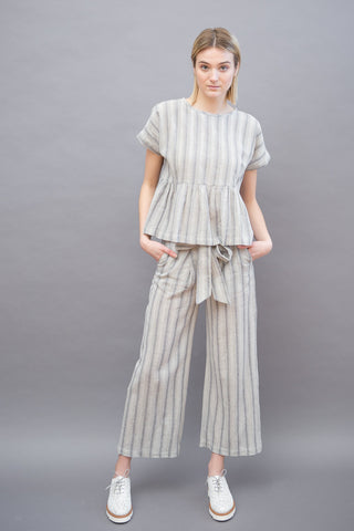 Masscob Stripe Pant With Tie
