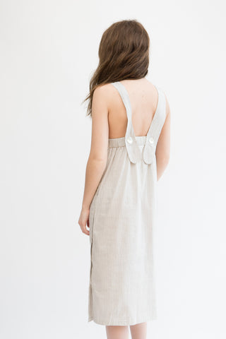 Megan Park Daria Stripe Khadi Dress