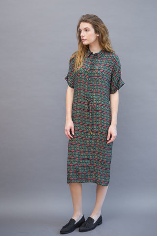 Megan Park Orla Drawstring Dress - grethen house