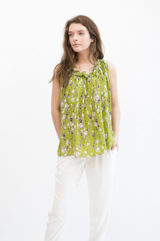 Megan Park Tula Silk Georgette Top