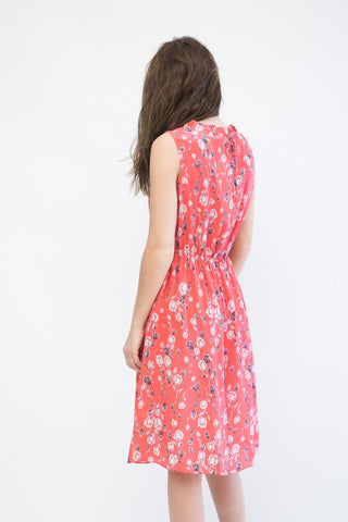 Megan Park Tula Silk Print Dress