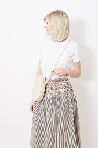 Modern Weaving Mini Oval Crossbody