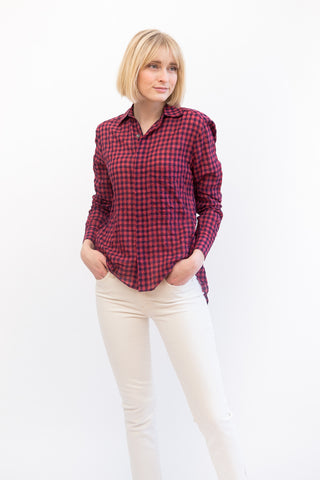 Mona Thalheimer Long Sleeve Hi Lo Shirt