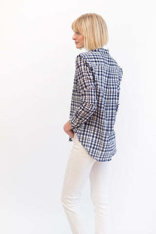 Mona Thalheimer Long Sleeve Pleat Back Shirt
