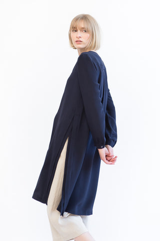 Mona Thalheimer Shirt Dress With Slit