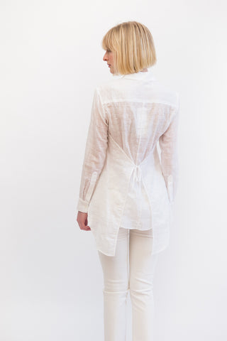 Mona Thalheimer Shirt With Tie Back