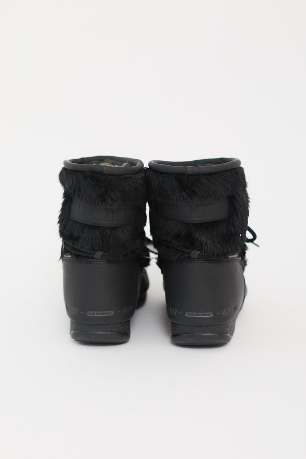 Monaco Low Fur Boot Black