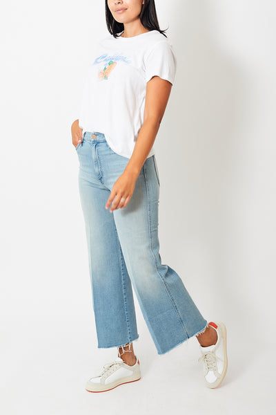Mother Denim The Sunburst Roller Ankle Fray