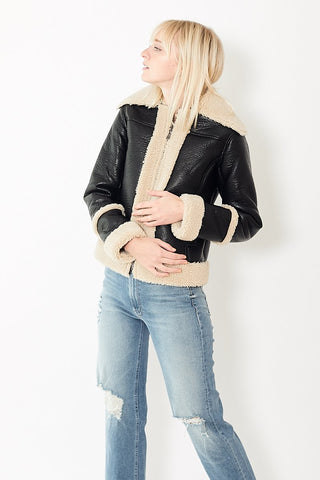 Mother Denim The Boxy Zip Moto