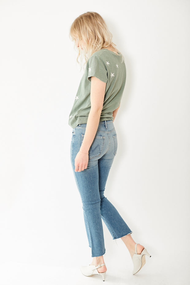 Mother Denim The Insider Crop Step Fray