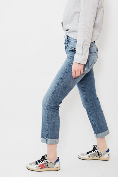 Mother Denim The Scrapper Cuff Ankle Fray