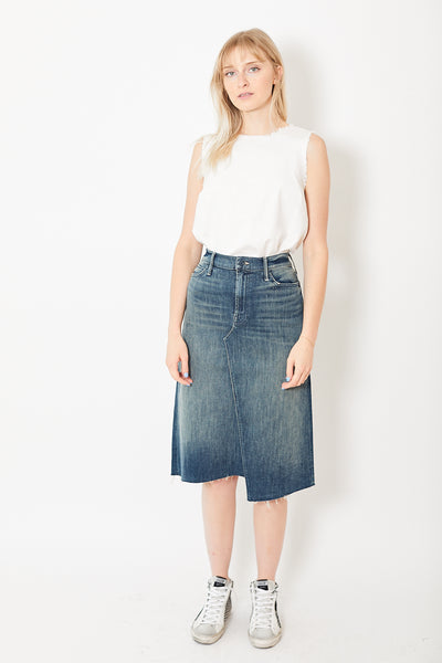 Mother The Straight A Step Midi Fray