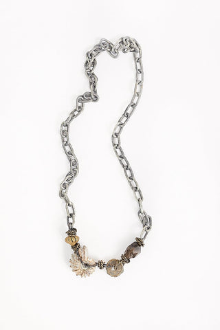 Mya Lambrecht Fossilized Ammonite Necklace