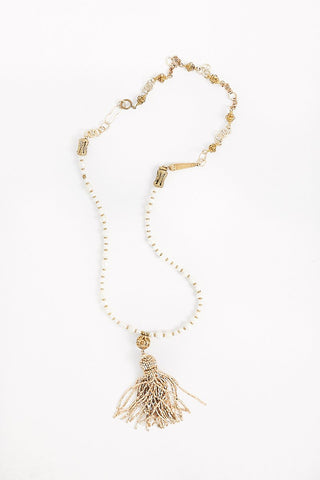 Mya Lambrecht Vintage Beaded Tassel Necklace