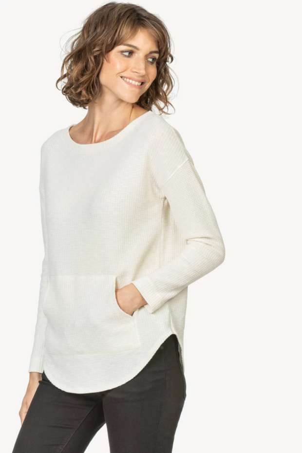 Lilla P Long Sleeve Boatneck w/Pocket