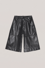 Ganni Lamb Leather Long Short