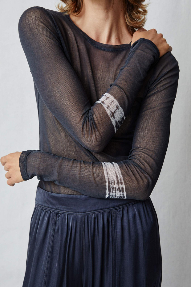 Raquel Allegra Long Sleeve Mesh Tee