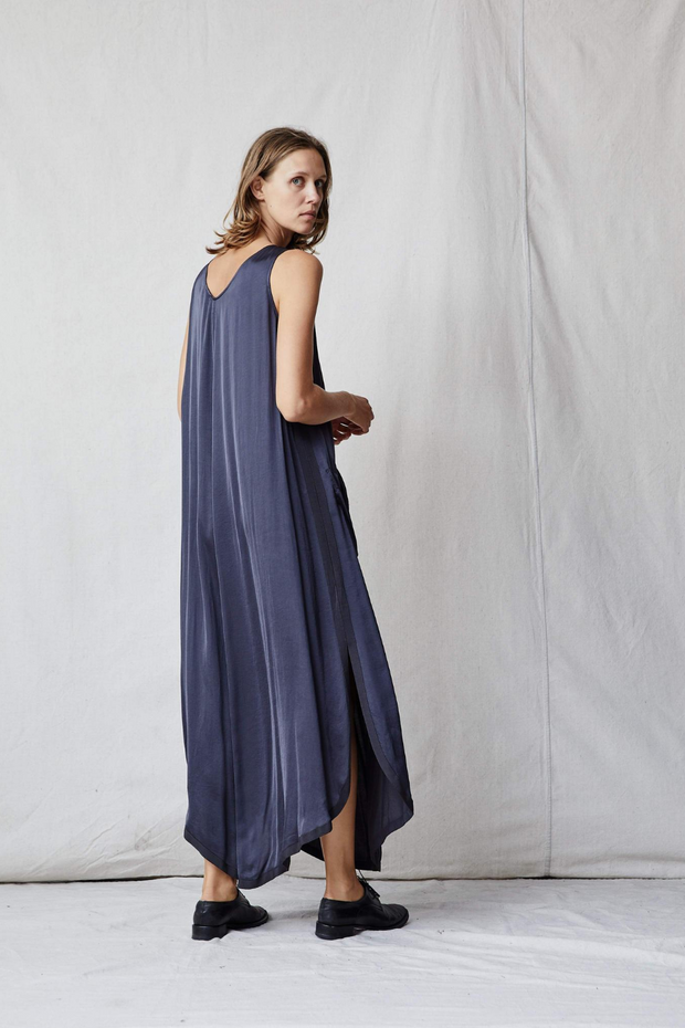 Raquel Allegra Grosgrain Maxi Dress