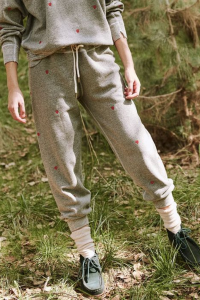 The Great The Cropped Sweatpant w/Hearts