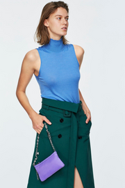 Dorothee Schumacher Drapy Fantasy Sleeveless Turtleneck
