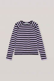 Ganni Striped Cotton Jersey L/S Tee