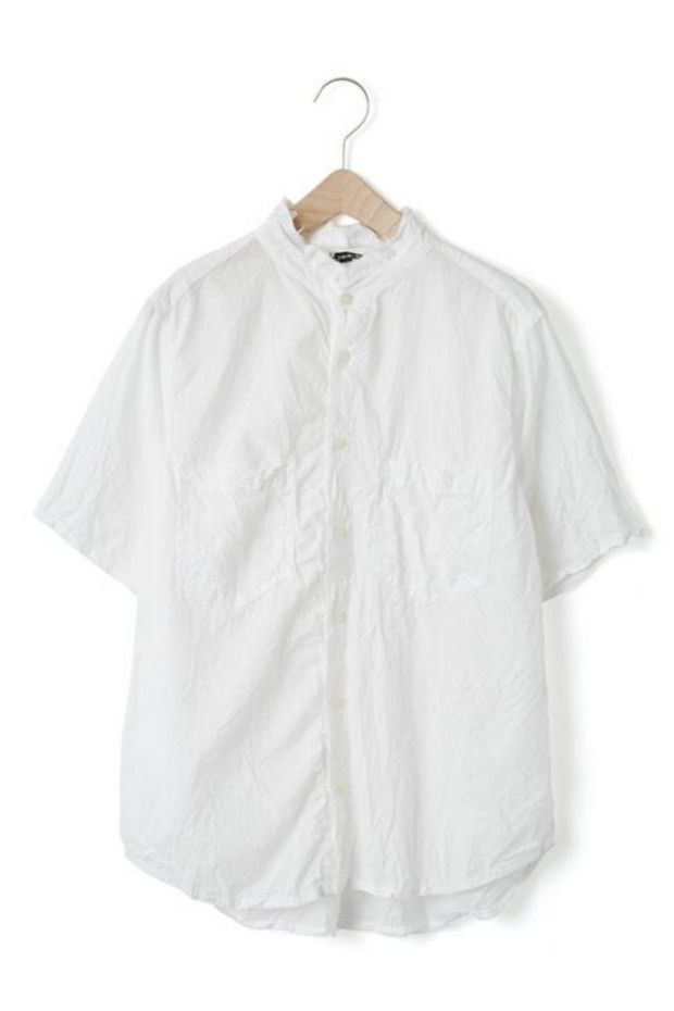 Pas de Calais Crinkled Cotton Dress Shirt