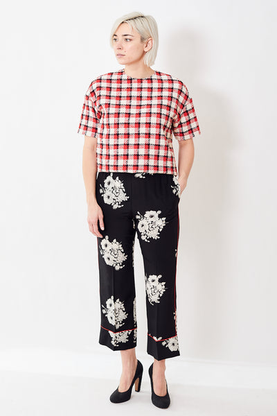 N°21 Floral Print Cropped Trousers